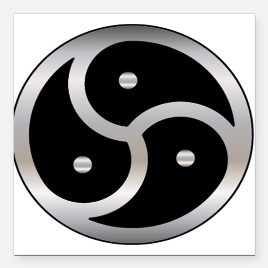 """BDSM symbol Femdom Square Car Magnet 3"""" x 3"""""""
