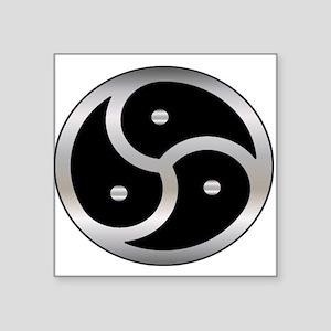 "BDSM symbol Femdom Square Sticker 3"" x 3"""