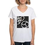 Femdom BDSM Triskeli... Women's V-Neck T-Shirt