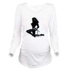 Femdom Mistress Long Sleeve Maternity T-Shirt