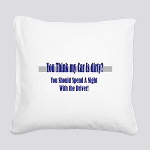 spend a night Square Canvas Pillow
