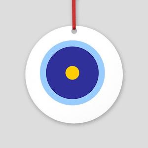 Libra Aquarius Leo Round Ornament