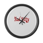 Femdom Bad kitty Large Wall Clock