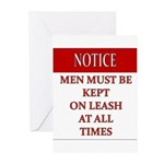 Femdom NOTICE LEASH... Greeting Cards (Pk of 10)