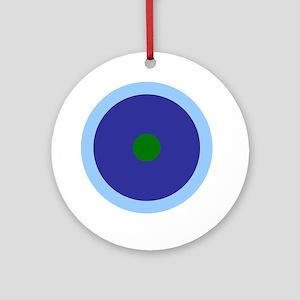 Libra Aquarius Virgo Round Ornament