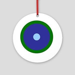 Virgo Aquarius Libra Round Ornament