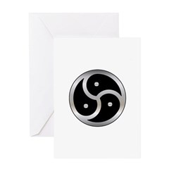 BDSM triskelion Greeting Cards