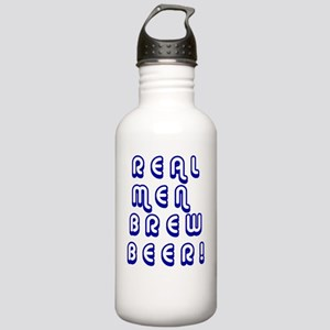 2-real men brew beer2 Stainless Water Bottle 1.0L