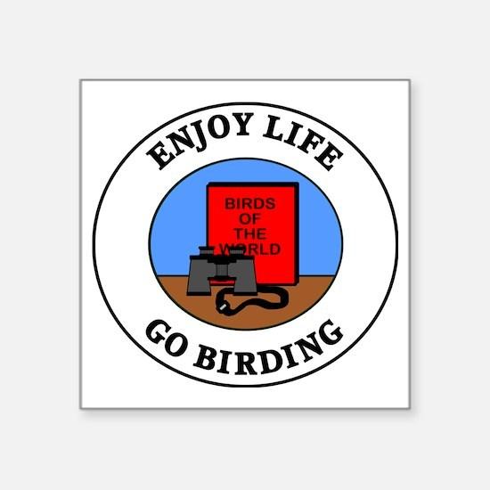 "birding1 Square Sticker 3"" x 3"""