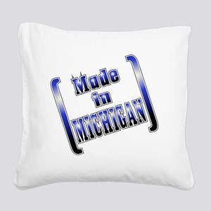 made_MICH_T Square Canvas Pillow