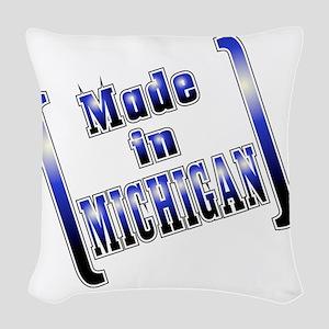 made_MICH_T Woven Throw Pillow