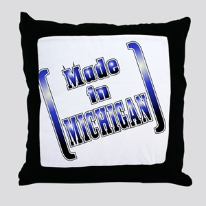 made_MICH_T Throw Pillow