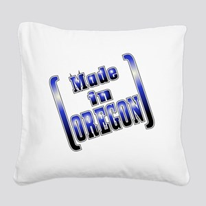 made_OREGON_T Square Canvas Pillow