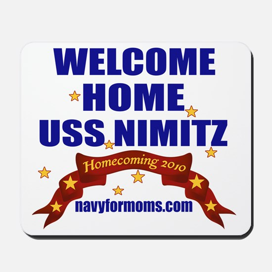 navy 4 moms welcome Mousepad