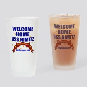 navy 4 moms welcome Drinking Glass