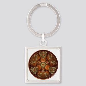 Norse Chieftain's Shield - Copper  Square Keychain