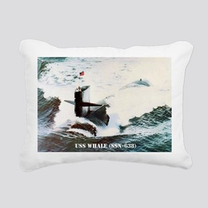 whale framed panel print Rectangular Canvas Pillow
