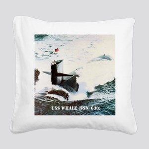 whale framed panel print Square Canvas Pillow