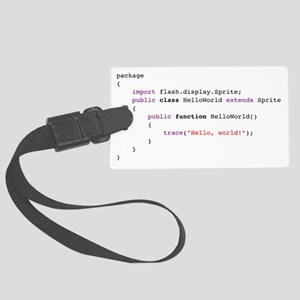 actionscript-helloworld Large Luggage Tag