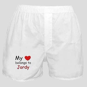 My heart belongs to jordy Boxer Shorts
