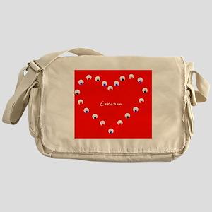 Corazon Heart Spanish Valentines Day Messenger Bag