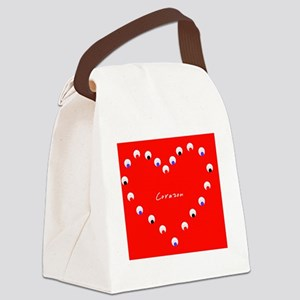 Corazon Heart Spanish Valentines  Canvas Lunch Bag
