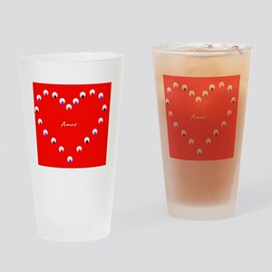 Amor Valentines Day Latinos Heart D Drinking Glass
