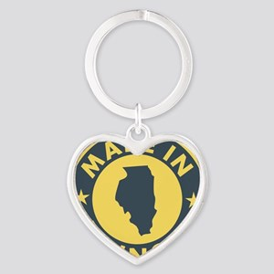 2-Made-In-ILLINOIS Heart Keychain