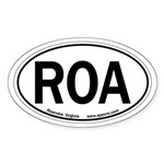 Roanoke, Virginia Oval Sticker
