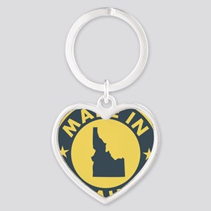 Made-In-IDAHO Heart Keychain