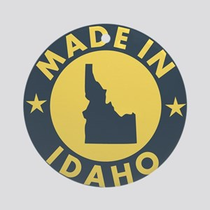 Made-In-IDAHO Round Ornament
