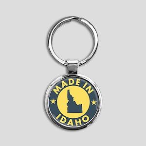 Made-In-IDAHO Round Keychain