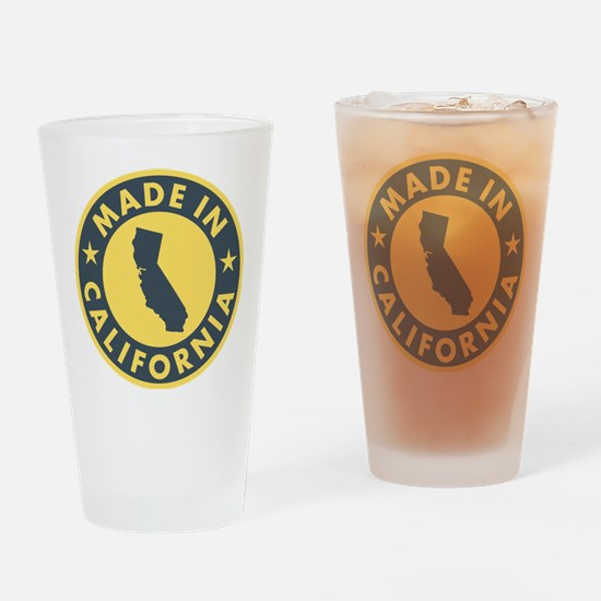 Made-In-Califotnia Drinking Glass