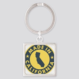 Made-In-Califotnia Square Keychain