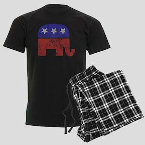 2-RepublicanLogoTexturedGreyBa Men's Dark Pajamas