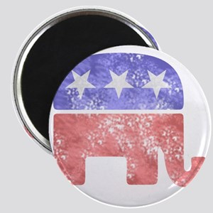2-RepublicanLogoTexturedGreyBackgroundFaded Magnet