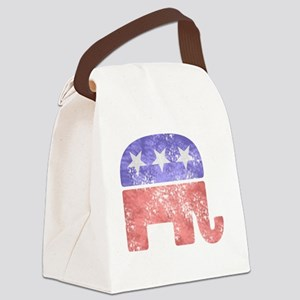2-RepublicanLogoTexturedGreyBackg Canvas Lunch Bag