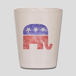 2-RepublicanLogoTexturedGreyBackgroundF Shot Glass