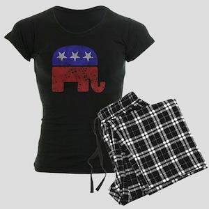 2-RepublicanLogoTexturedGrey Women's Dark Pajamas