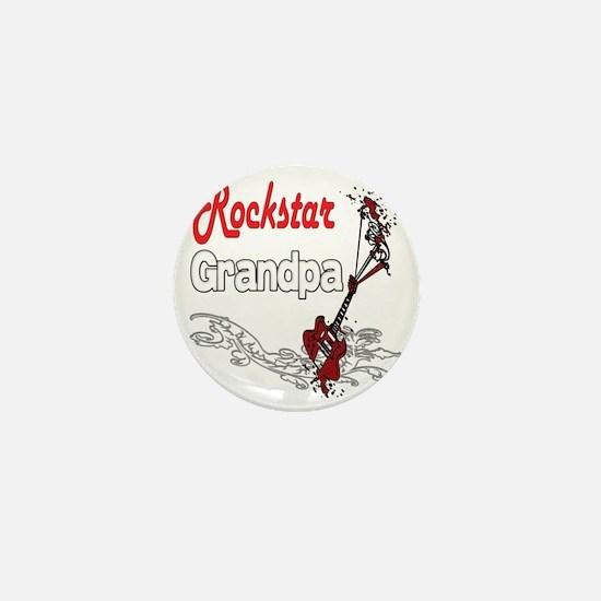 Rockstar Grandpa copy Mini Button