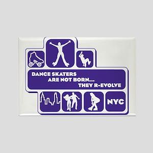 womens_back_shapes_purple Rectangle Magnet