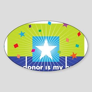 donor hero Sticker (Oval)
