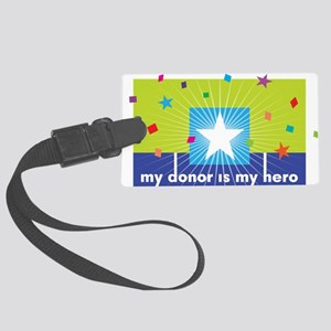 donor hero Large Luggage Tag