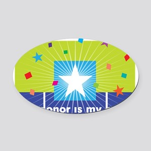 donor hero Oval Car Magnet