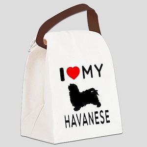 I Love My Havanese Canvas Lunch Bag