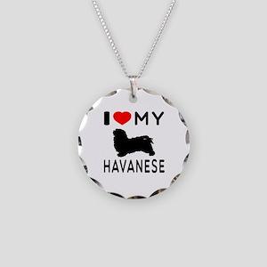 I Love My Havanese Necklace Circle Charm