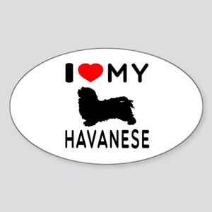I Love My Havanese Sticker (Oval)