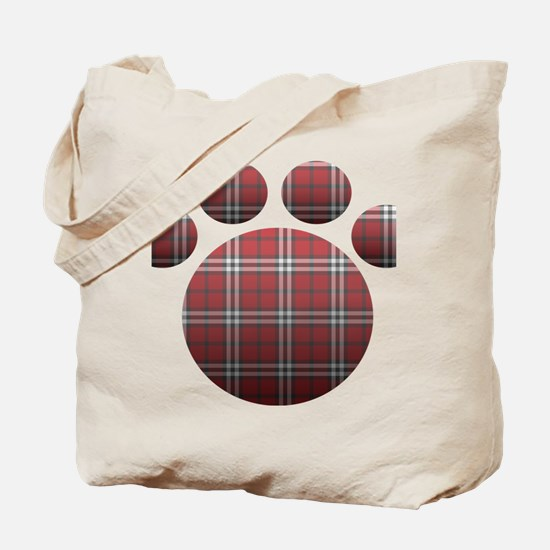 Plaid Paw Tote Bag