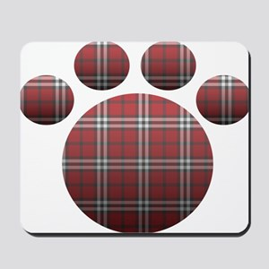 Plaid Paw Mousepad