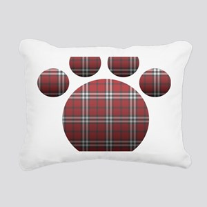 Plaid Paw Rectangular Canvas Pillow